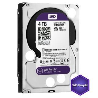 【WD 威騰】紫標 4TB 監控專用 3.5吋 SATA硬碟(WD40PURZ)