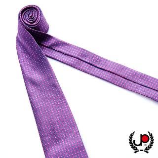 【JYI PIN 極品名店】100%絲質義大利手工領帶_紫底方格紋(YT5080)