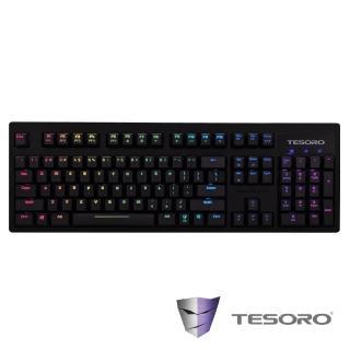 【TESORO 鐵修羅】TESORO鐵修羅 Excalibur RGB神劍幻彩版機械式鍵盤-紅軸中文(紅軸)