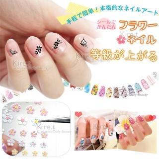 【kiret】3D立體指甲彩繪貼紙 25張(顏色款式隨機 歐式雕花 3D立體)