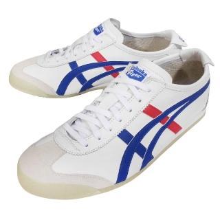 【asics 亞瑟士】休閒鞋 Mexico 66 男鞋 女鞋 亞瑟士 復古皮革 情侶鞋 白 藍(DL408-0146)
