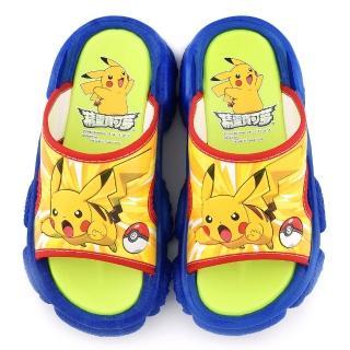 【童鞋城堡】神奇寶貝-寶可夢 中童 寶可夢戶外拖鞋(PA1707-藍)