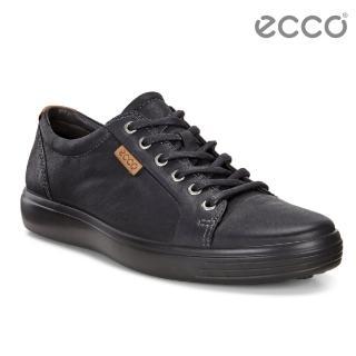【ecco】ECCO SOFT 7 MENS 經典輕巧休閒鞋(黑 43000451707)