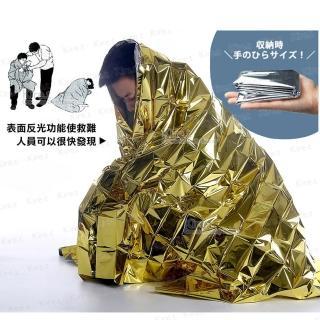 【kiret】戶外 鋁箔 急救毯 特大210*160cm-超值2入(地震 登山 露營 應急毯 保溫毯)