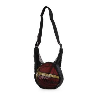 【MOLTEN】籃球網袋-球袋 黑(NB1B)