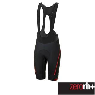 【ZeroRH+】義大利專業Absolute AirX 男仕競賽級吊帶自行車褲(黑/紅 ECU0517_930)