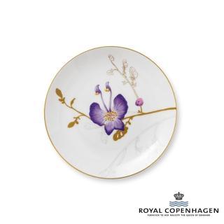 【Royal Copenhagen 皇家哥本哈根】骨瓷盤22cm(芙蘿拉花神-三色堇)