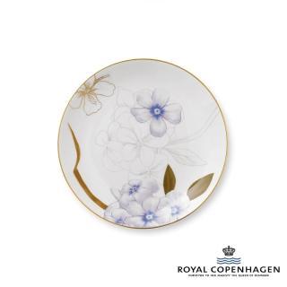 【Royal Copenhagen 皇家哥本哈根】骨瓷盤22cm(芙蘿拉花神-杜鵑花)