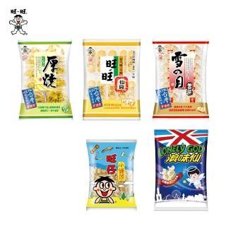 【旺旺】五拜有保庇箱599g(旺旺仙貝/雪餅/厚燒海苔/浪味仙)