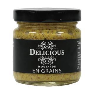 【Delicious】顆粒芥末醬 90g(義大利經典調味品)