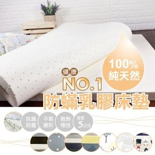 100%HT乳膠天然防床墊-標準雙人5尺(床墊、標準雙人床墊、乳膠床墊、天然、防)