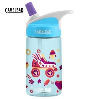 【CAMELBAK】400ml eddy 兒童吸管運動水瓶 溜冰派對(CB1579403140)