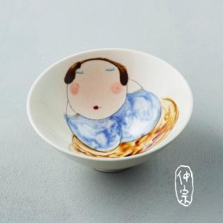 【吳仲宗】胖太太系列 - 日本碗 - 淺水綠(黛藍衣)