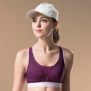 【Wacoal 華歌爾】專業系列M-3L運動胸罩-背心式-避震舒適(活力紫)