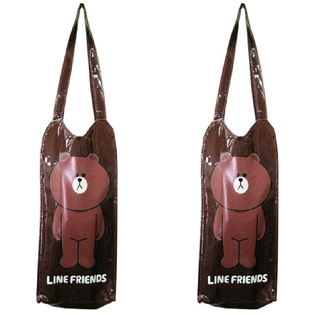 【LINE FRIENDS】熊大輕質防水水壺袋_冰霸杯適(二入)