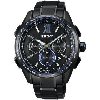 【SEIKO 精工】Brightz 135週年限量鈦計時太陽能電波腕錶(8B92-0AR0SD  SAGA227J)