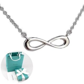 【Tiffany&Co. 蒂芙尼】Infinity迷你無限符號925純銀墜飾項鍊
