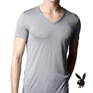 【PLAY BOY】涼感舒爽V領短袖O836PB(Playboy涼感V領衫)