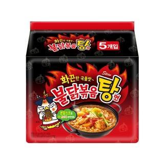 【三養】火辣雞肉風味湯麵145g*5入