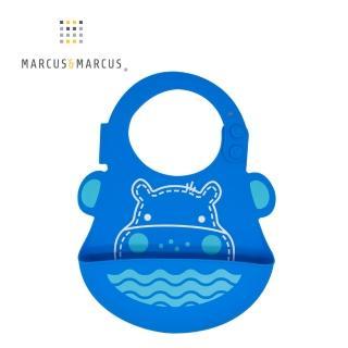 【MARCUS&MARCUS】動物樂園矽膠立體圍兜-河馬