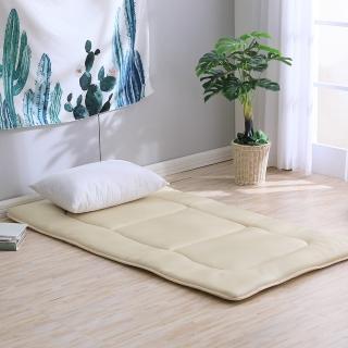 【LAMINA】3D氣對流日式床墊5cm-卡其(單人加大)
