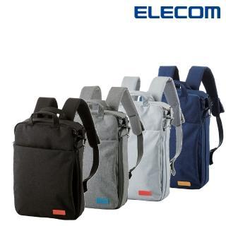 【ELECOM】帆布多功能3WAY薄型後背包OF01(BM-OF01)