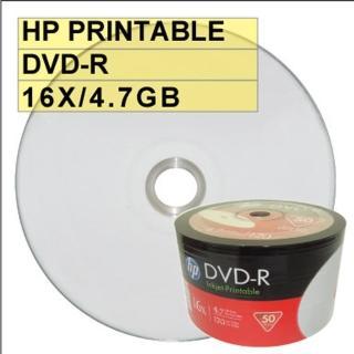 【HP 惠普】HP PRINTABLE DVD-R 16X 4.7G 可列印 空白光碟片(600片)