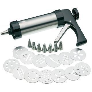 不鏽鋼家用手壓式奶油裱花器/餅乾器