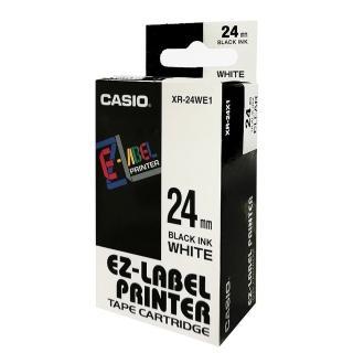 【CASIO 卡西歐】標籤機專用色帶-24mm白底黑字(XR-24WE1)