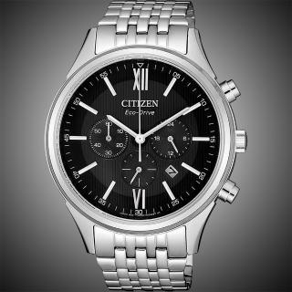【CITIZEN 星辰】亞洲限定光動能計時手錶-黑x銀/42mm(CA4410-84E)