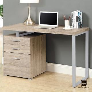 【Hampton 漢汀堡】尼爾系列摩登電腦書桌-淺木色(電腦桌/書桌/桌子/桌)
