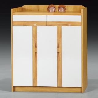 【AS】波特雙色鞋櫃-90x35x106cm