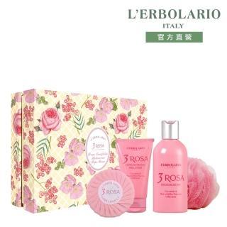 【L'ERBOLARIO 蕾莉歐】玫瑰三重奏香氛禮盒(禮盒)