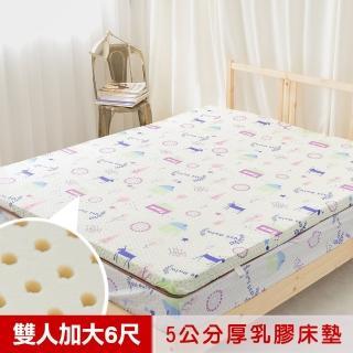【米夢家居】夢想家園-冬夏兩用純棉+紙纖蓆面-馬來西亞進口乳膠床墊-5公分厚(雙人加大6尺-白日夢)