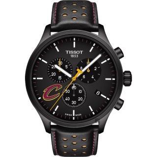 【TISSOT 天梭】CHRONO XL NBA 騎士隊特別版計時錶-黑/45mm(T1166173605101)