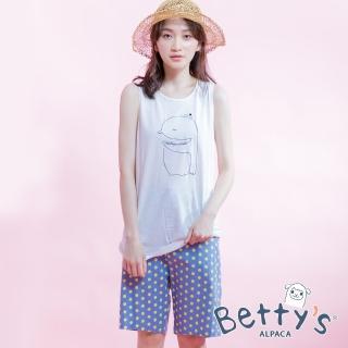 【betty's 貝蒂思】後鬆緊點點活力短褲(淺藍)