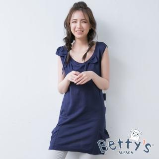 【betty's 貝蒂思】浪漫蝴蝶結無袖長版上衣(深藍)