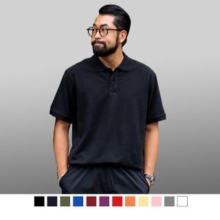 【男人幫】混搭短袖素面POLO衫(P0054)