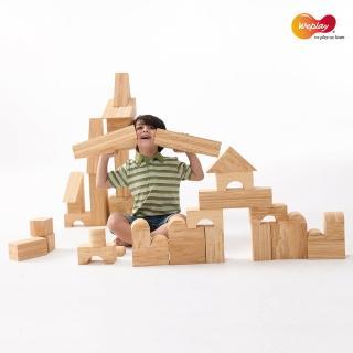 【Weplay】軟質木紋積木 - 56件 厚度8cm(STEAM玩具)