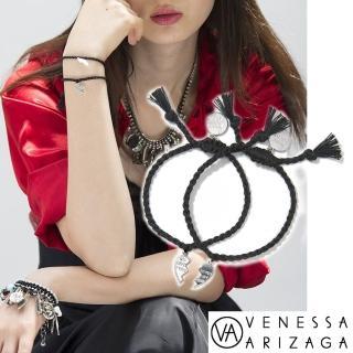 【Venessa Arizaga】MADE FOR EACH OTHER 銀墜 黑色手鍊組(手鍊)
