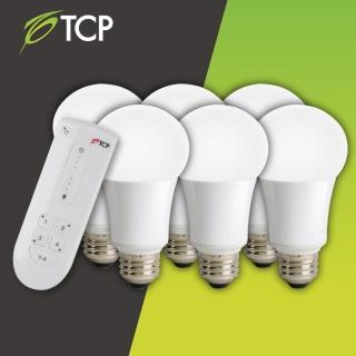 【TCP】遙控照明燈泡組(1搭6顆白光)