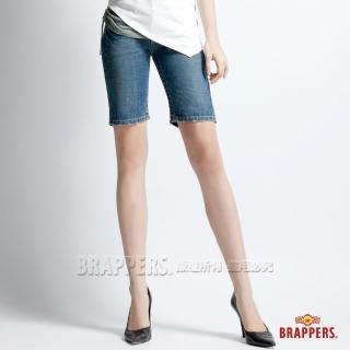 【BRAPPERS】女款 垮褲系列-合身五分褲(淺藍)