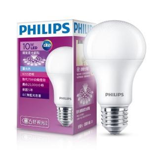 【Philips 飛利浦】LED球型 10W 舒視光 LED燈泡E27 白光6500K 全電壓(6入組)