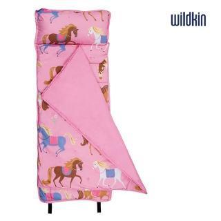 【美國Wildkin】無毒幼教睡袋/午覺毯/兒童睡袋(49696 凱莉小馬)