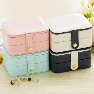 【梨花HaNA】韓國糖果馬卡龍色迷你攜帶式珠寶盒首飾盒