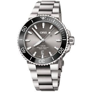 【ORIS 豪利時】Aquis 時間之海鈦合金潛水300米日期機械錶-43.5mm(0173377307153-0782415PEB)