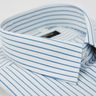 【金安德森】白底藍條紋短袖襯衫-fast