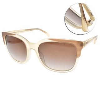 【EMPORIO ARMANI】歐系時尚流行框眼鏡(透象牙-漸層棕#EA4119F 5699-13)