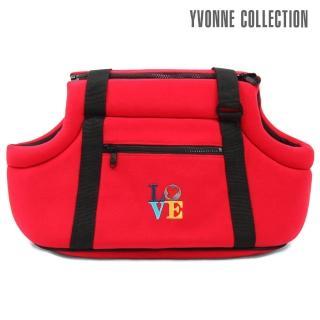 【Yvonne Collection】LOVE寵物背袋紅色(紅色)