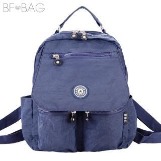 【B.F.】機能時尚輕星尼龍防潑水旅行後背包(共5色)